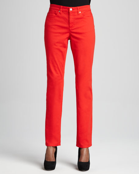 Dyed Straight-Leg Jeans, Petite