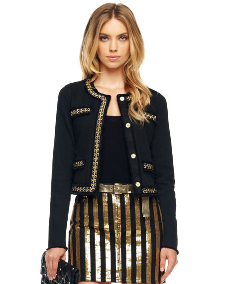 Chain-Trim Jacket