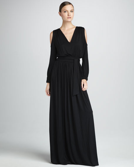Neptune Cutout-Sleeve Dress