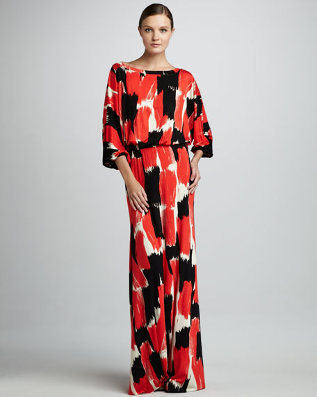 Aurora Print Maxi Dress, Women's
