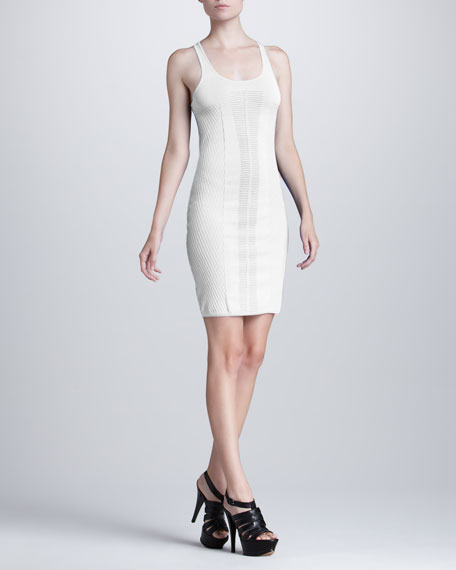 Fitted Tank Dress, White