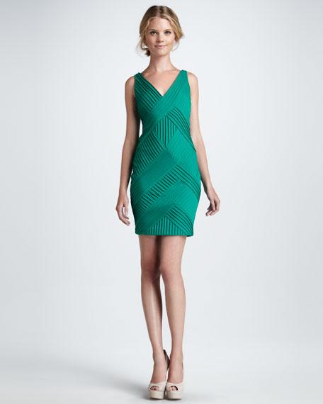 Pintucked Sleeveless Dress
