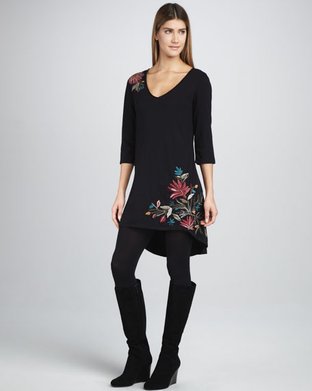 Farley Embroidered High-Low Tunic