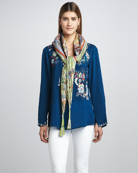 Butterfly Dreams Embroidered Tunic, Women's