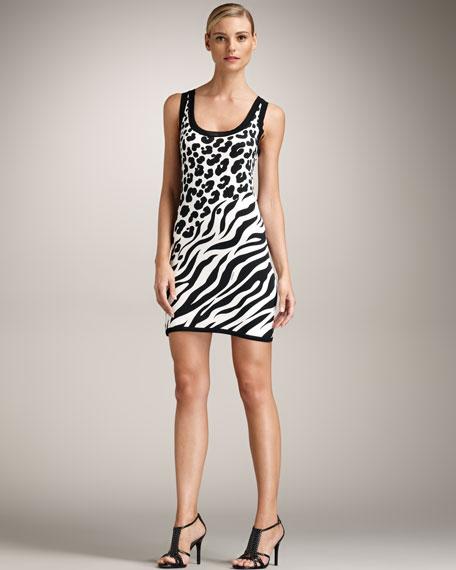 Animal-Print Silk Dress