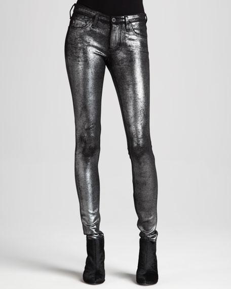 Metallic Twill Leggings