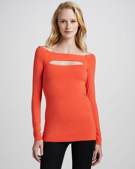 Lizzy Cutout Long-Sleeve Top