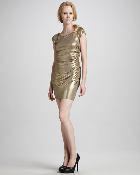 Iron Maiden Metallic Ruched Dress