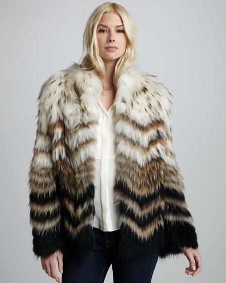 Cassius Ombre Raccoon Coat