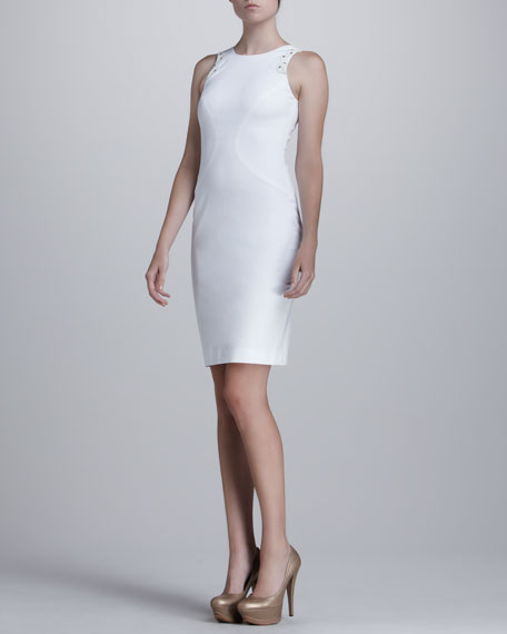Fitted Eyelet Dress
