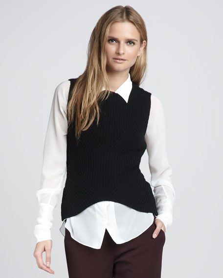 Kitel Ribbed Sweater Vest