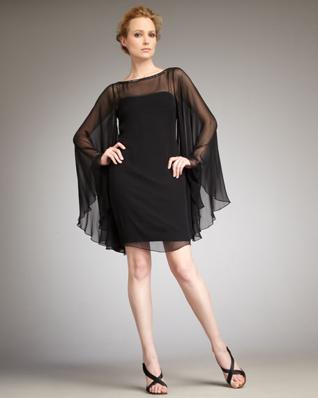 Full-Sleeve Cocktail Dress