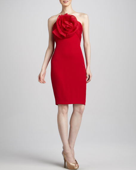 Strapless Rosette Dress