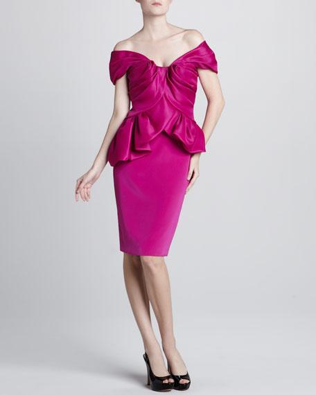 Gathered Off-The-Shoulder Dress