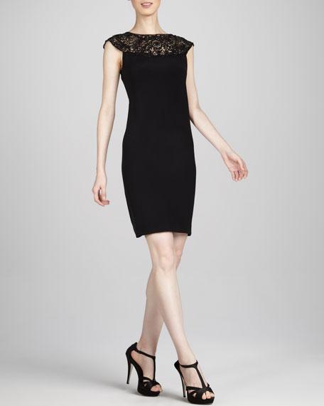 Illusion-Lace Dress