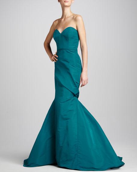 Asymmetric Sweetheart Gown