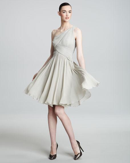 One-Shoulder Crisscross Dress