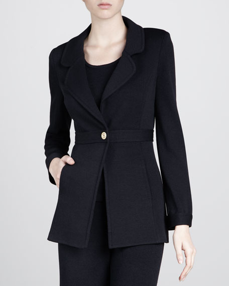 Santana Golden Button Jacket, Black