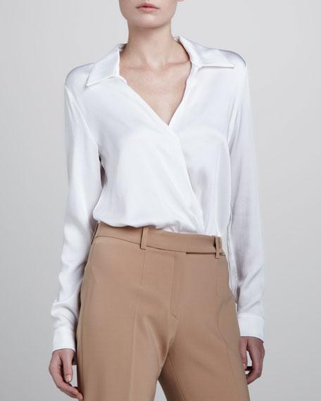 Charmeuse Bodysuit, Optic White