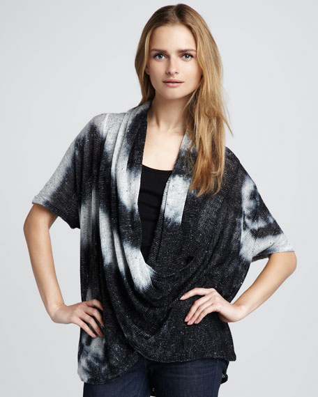 Tie-Dye Wrap Sweater