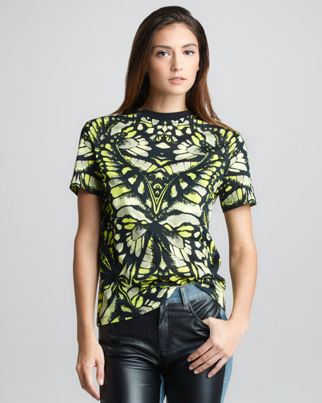 Dragonfly Wing-Print T-Shirt