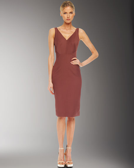Sateen Sheath Dress