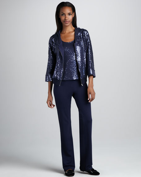 Sequined Bomber, Top & Pants Set