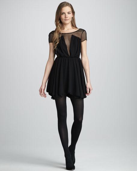 After Dark Sheer-Top Dress