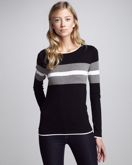 Colorblock Sweater, Black