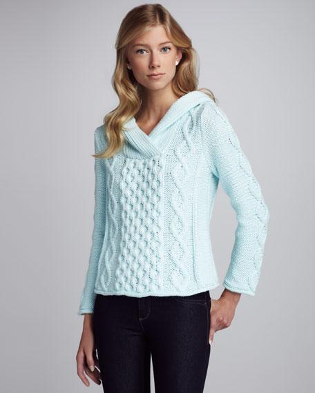 Shawl-Collar Knit Sweater