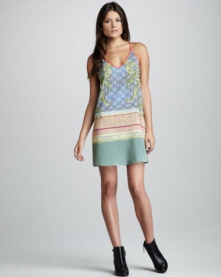 Filigree Scarf-Print Dress