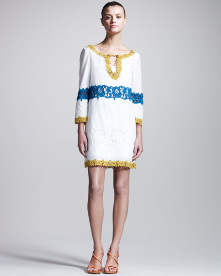 Embroidered Muslin Tunic Dress