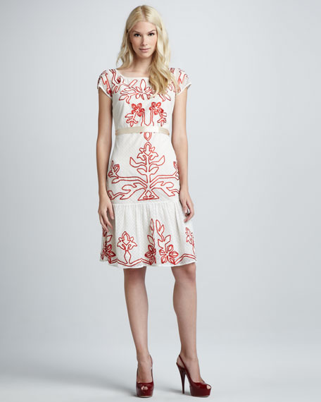 Floria Tiered-Hem Dress