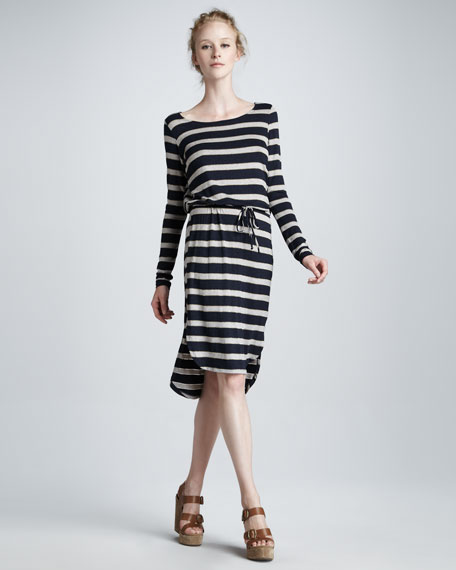 Astoria Striped Drawstring Dress