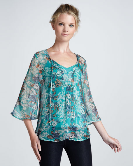 Rosemary Printed Sheer Tunic