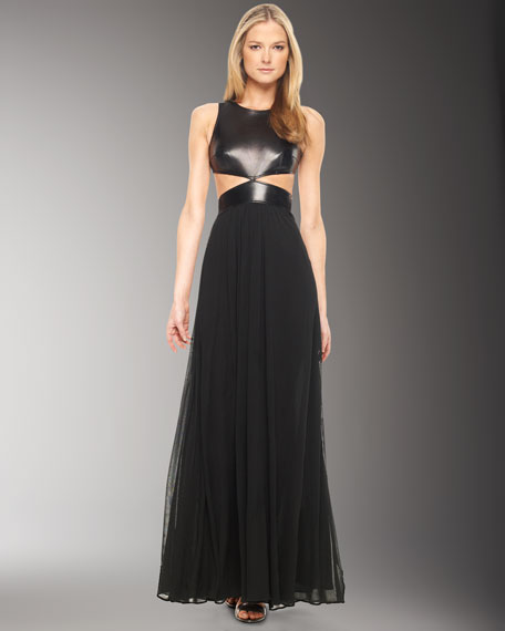 Leather-Bodice Gown