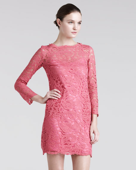 Unlined Lace Minidress