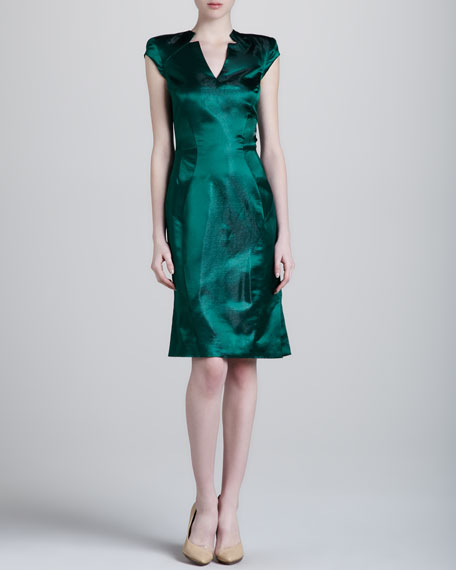 Metallic V-Neck Dress
