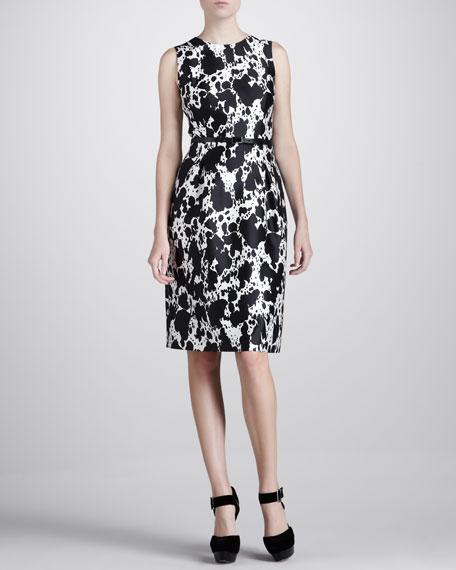Pony-Print Shantung Dress