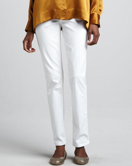 Organic Twill Straight-Leg Jeans