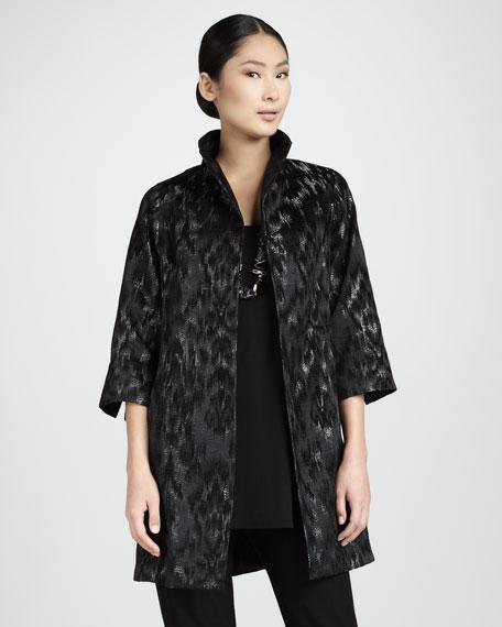 Blurred Ikat Coat