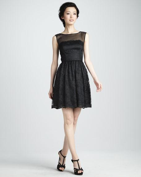 Inga Lace Illusion Dress