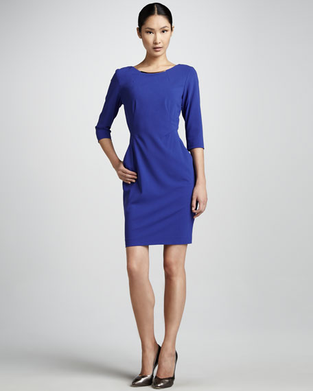 Iman Three-Quarter-Sleeve Sheath Dress