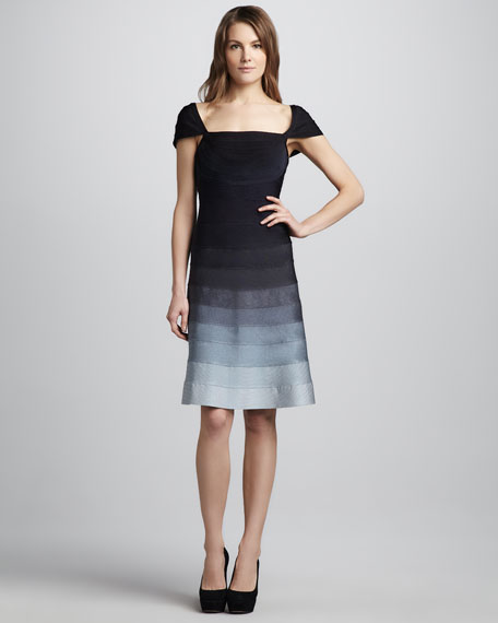 Ombre-Skirt Bandage Dress
