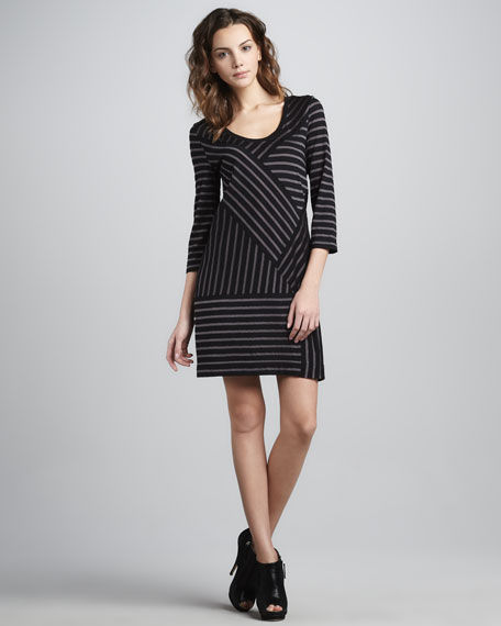 Smith Striped Jersey Dress