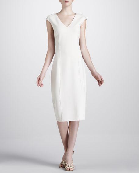 V-Neck Crepe Dress