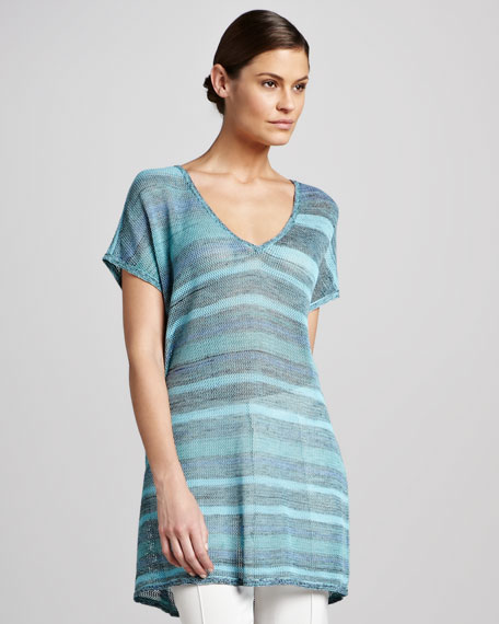 Airy Space-Dye Knit Tunic