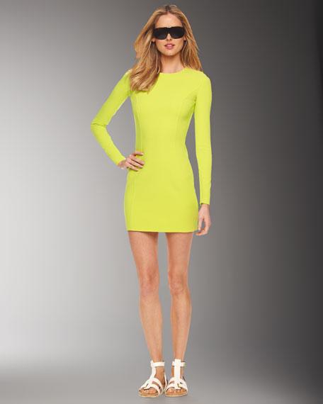 Crepe Crewneck Dress