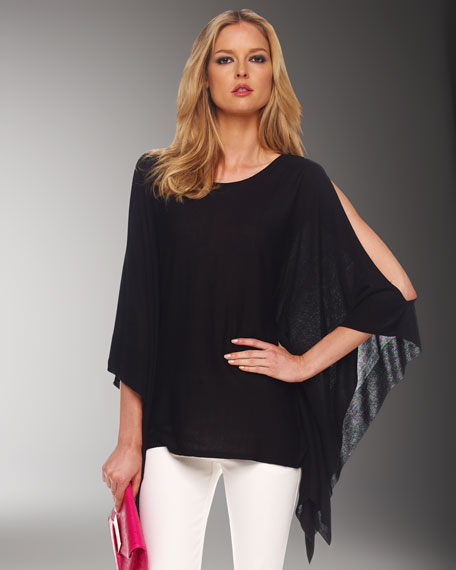 Cold-Shoulder Poncho