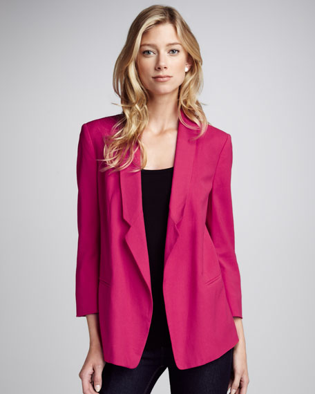 Connie Loose Crepe Blazer, Pink